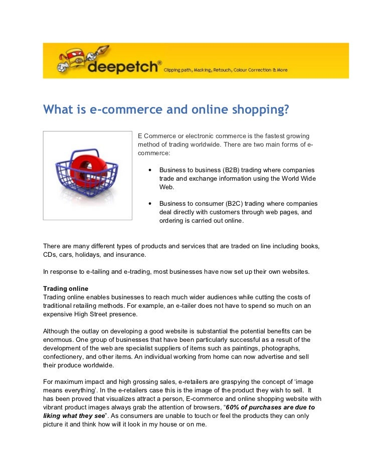 What is-e-commerce-and-online-shopping