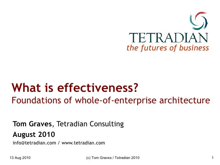 What is effectiveness?