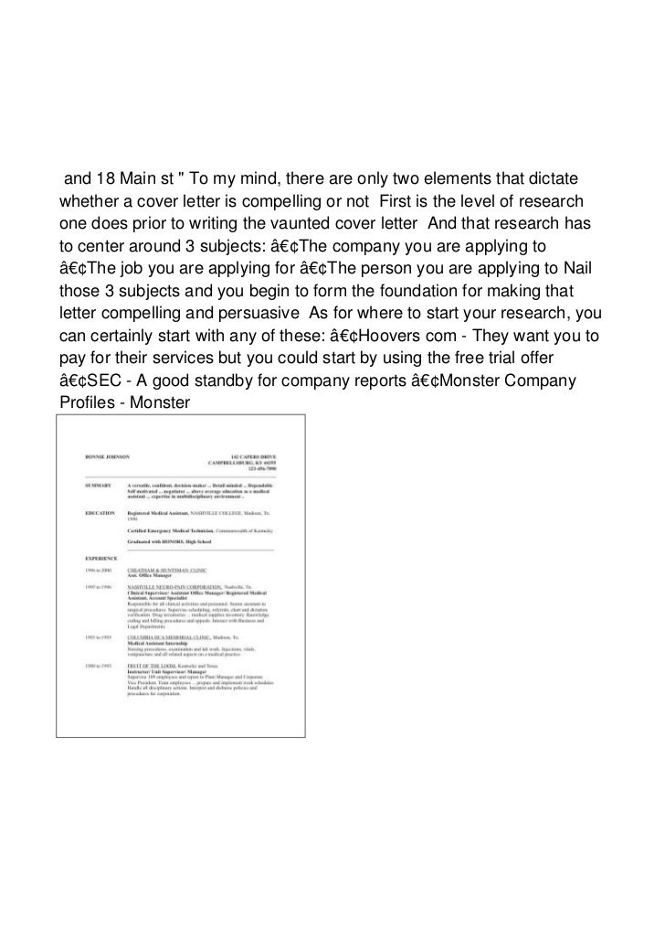 what is it about a cover letter that makes it pers80