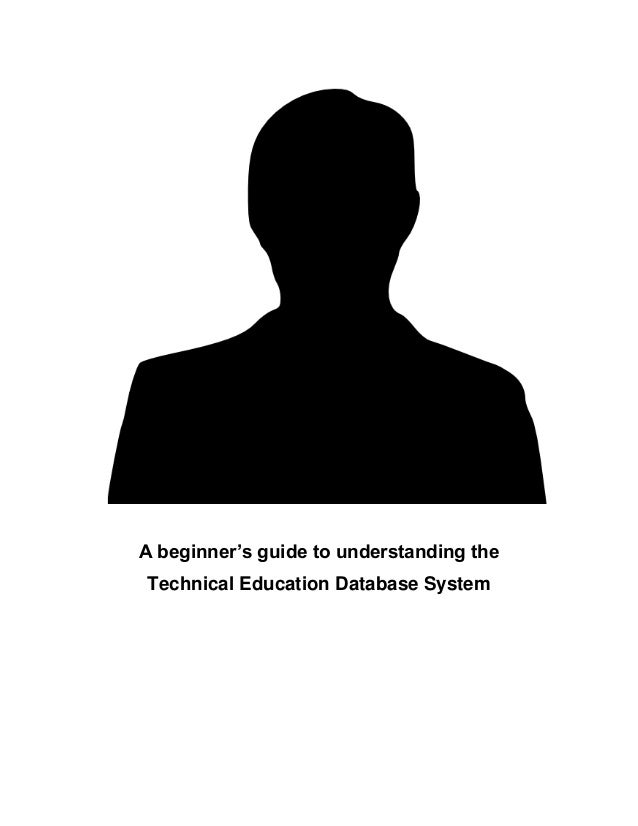 Who is TED? And why do I hate him?  A beginner's guide to understanding the Technical Education Database System