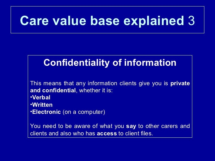 ao1 care value base Writing a 'describe and evaluate a theory' essay  (ao1) and commentary  conclusion about the value of something through a consideration of its strengths and.