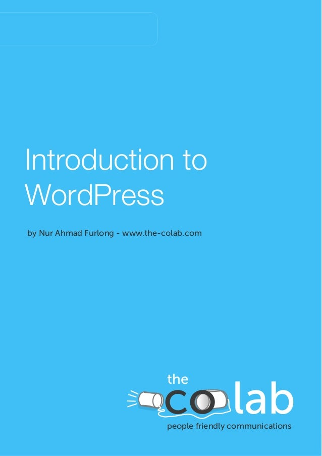 February, 2012January, 2012WordPress Ecommerce StorelProposal ProposaIntroduction toWordPressby Nur Ahmad Furlong - www.th...