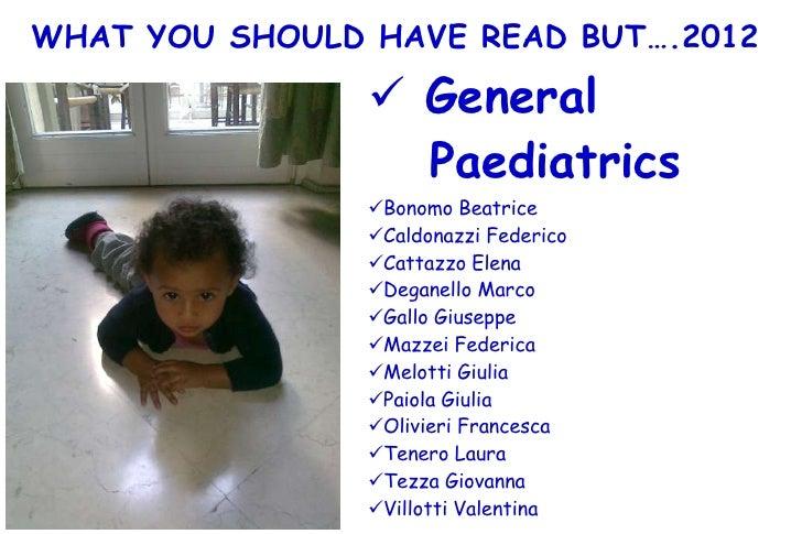 What 2012 general paediatrics