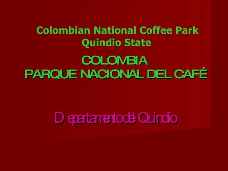 What A Beautiful Life National Park Of Coffee.
