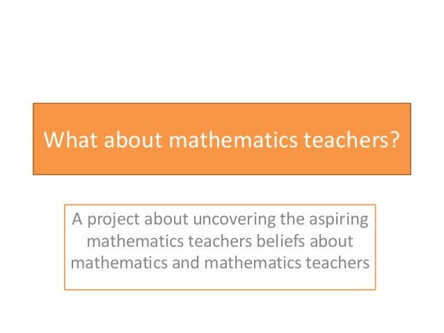Math teachers - what about math teachers?