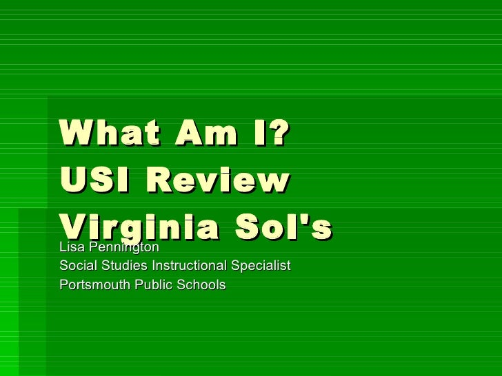 What Am I Usi Review  All Sols