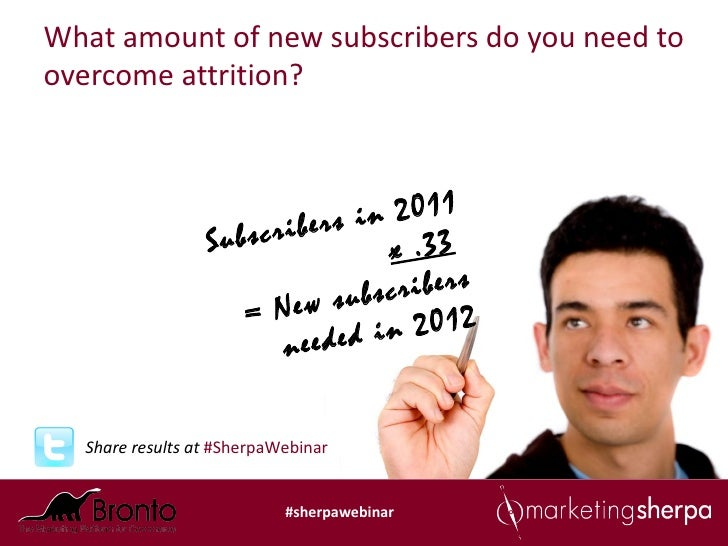 What amount of new subscribers do you need toovercome attrition?                      cribers  in 2011                 Sub...