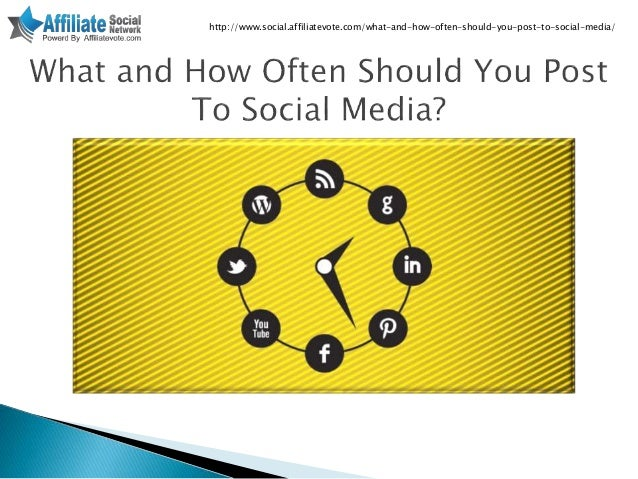 What and how often should you post to social media