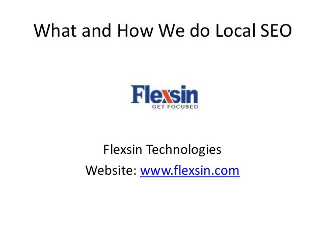 What and how we do local seo