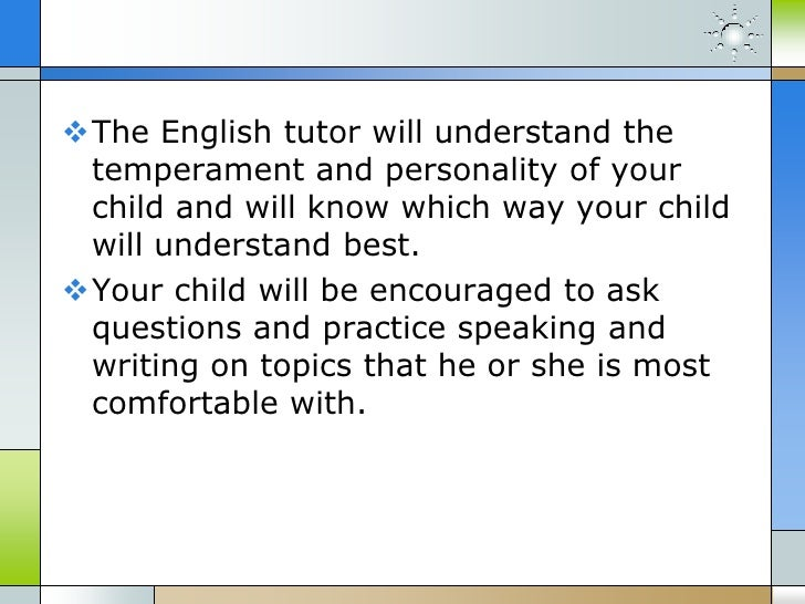 What does an english tutor do?
