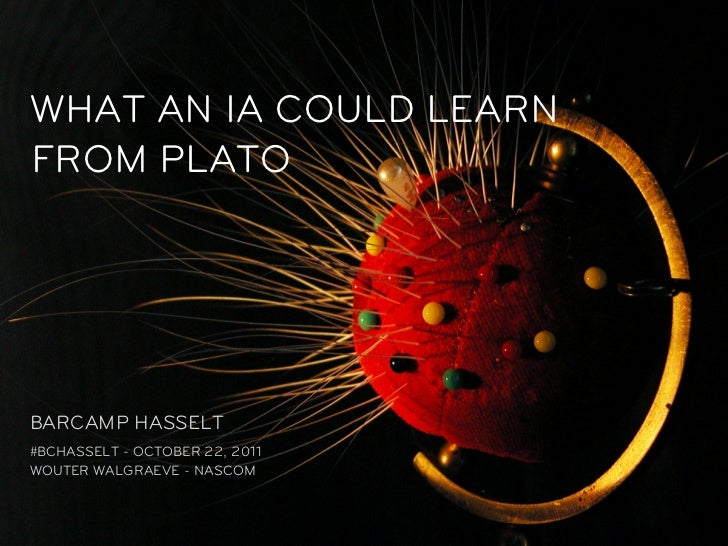 What an information architect could learn from Plato