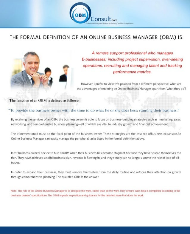 What an online business manager can do for your business!!