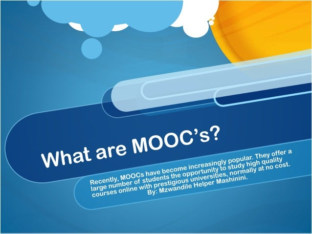 """The Acronym MOOC Stands for """"Massive Open Online Course( s )"""" Originated in 2008 with the Open Education Resources Movemen..."""