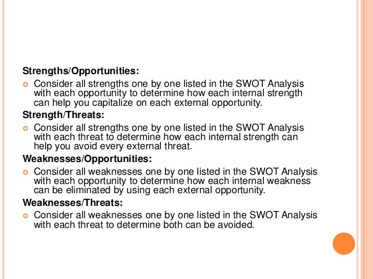 List of strengths and weaknesses examples