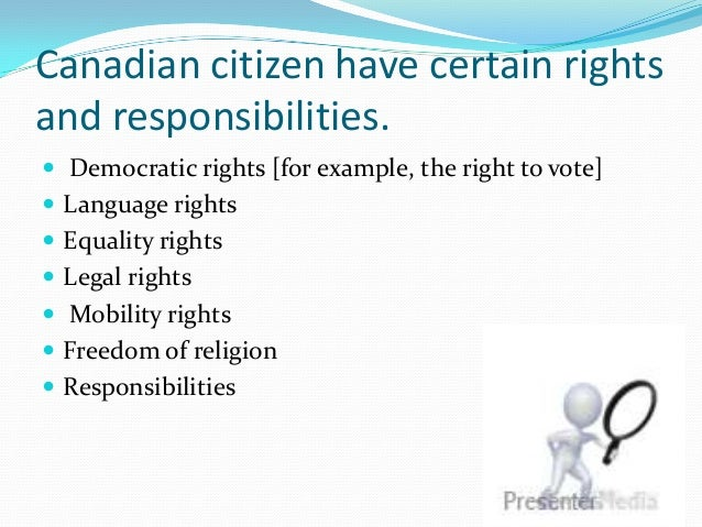 on responsibilities of governments and rights of citizens