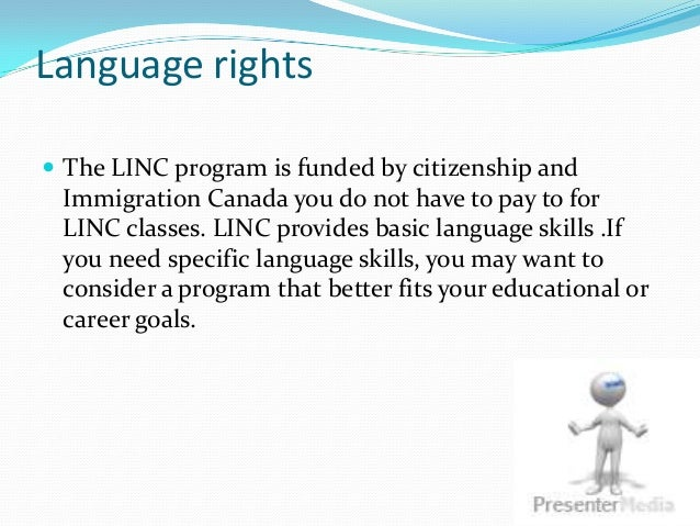 Language Rights in Canada Language Rights  The Linc
