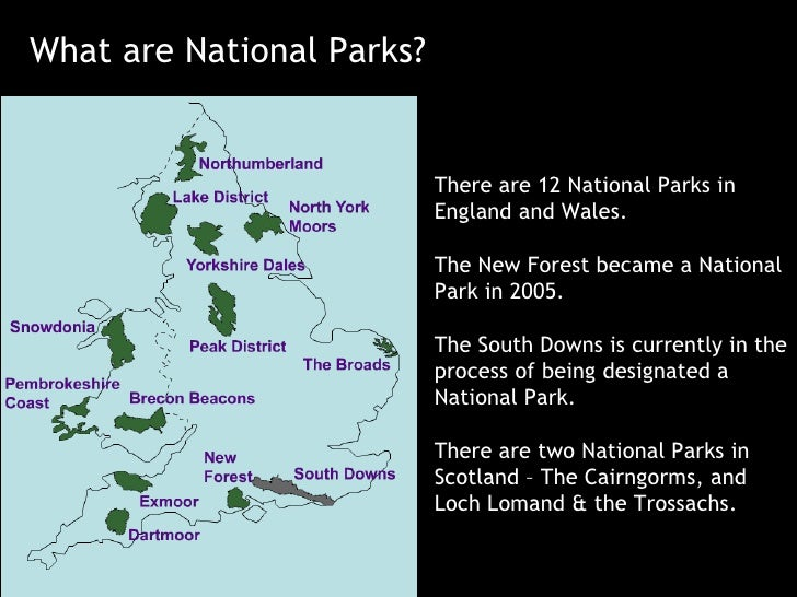 What are National Parks? There are 12 National Parks in England and Wales. The New Forest became a National Park in 2005. ...