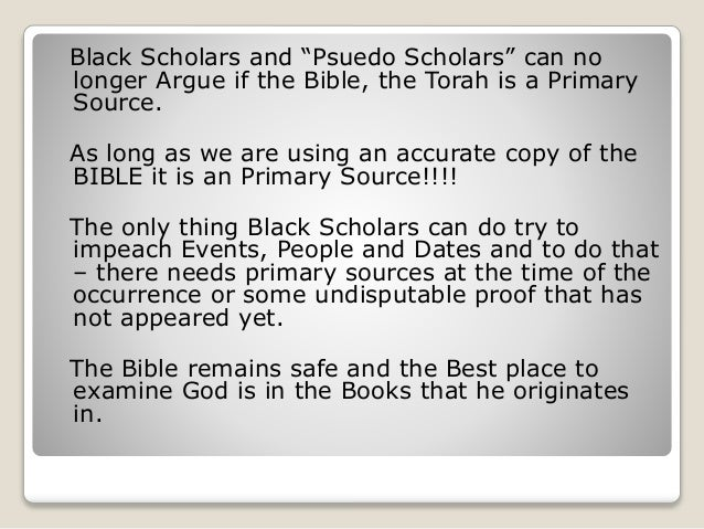 Is the bible a primary source?