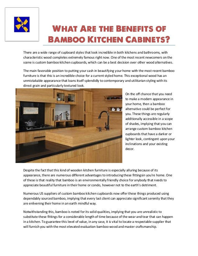 What are the benefits of bamboo kitchen cabinets - Advantages bamboo cabinetry ...
