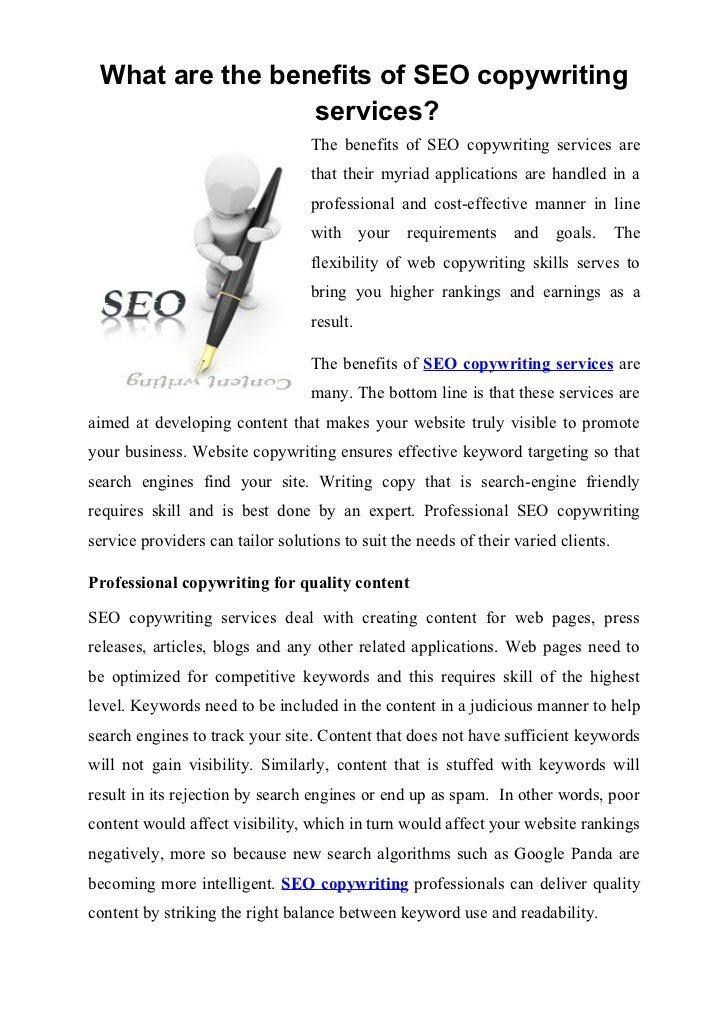 What are the benefits of SEO copywriting services?