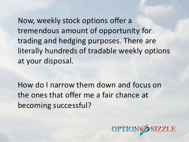 Best stocks to trade weekly options