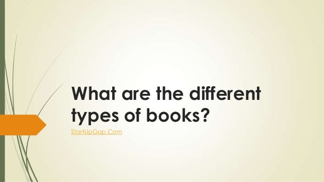 What Are The Different Types Of Books You Can Publish