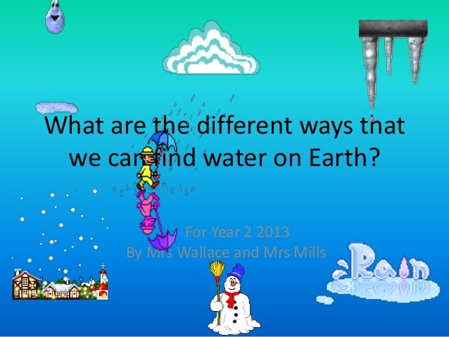 What are the different ways that we can find water on earth for We are water