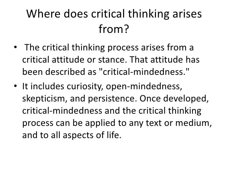 Critical Thinking In Daily Life