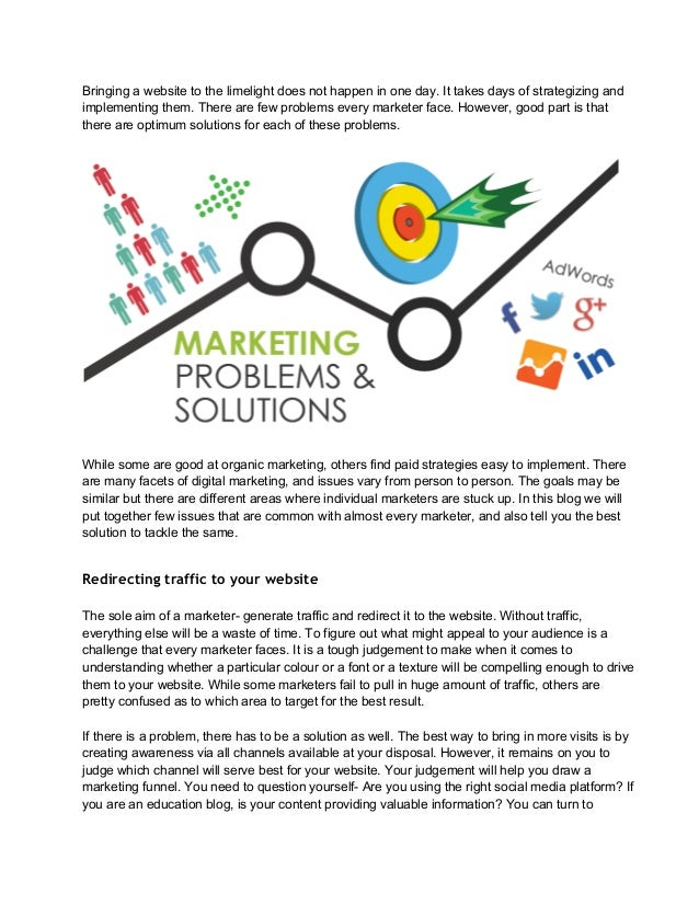 What are the problems in digital marketing and how to solve them
