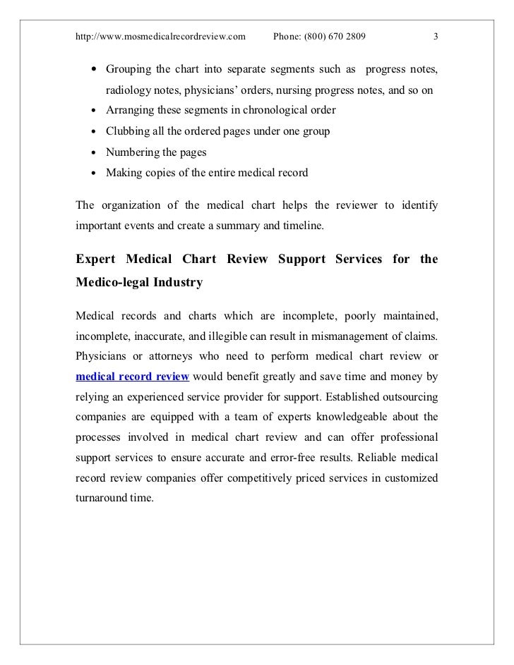 What Are The Processes Involved In Medical Chart Review