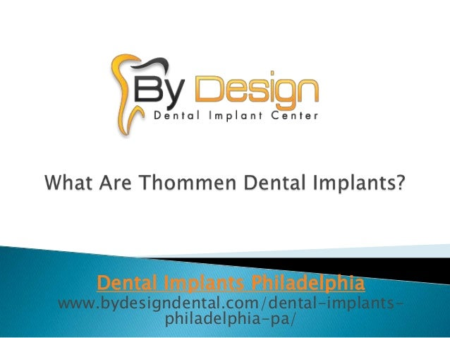What Are Thommen Dental Implants?