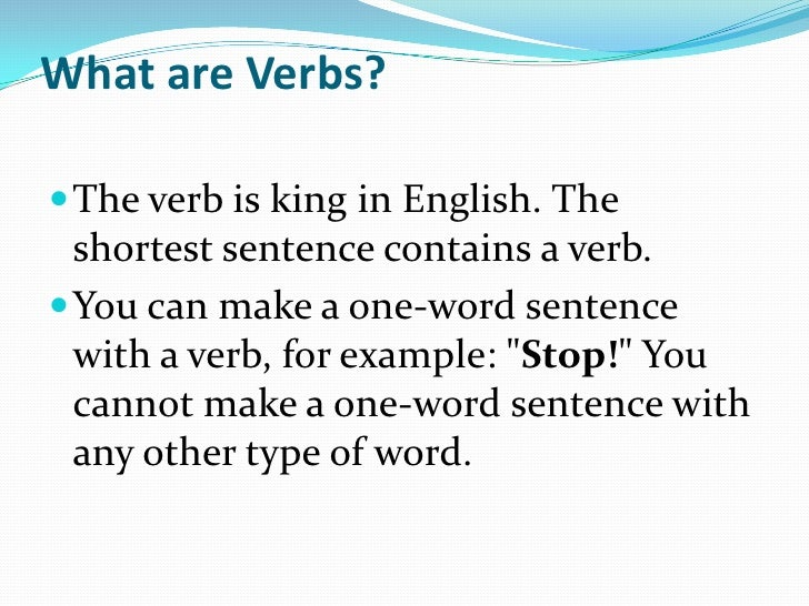 What are verbs