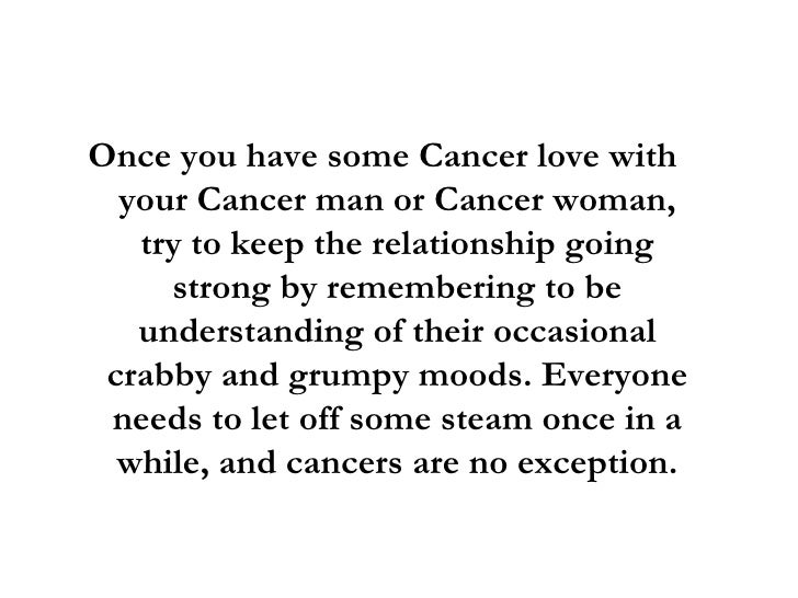 Cancer woman dating scorpio man