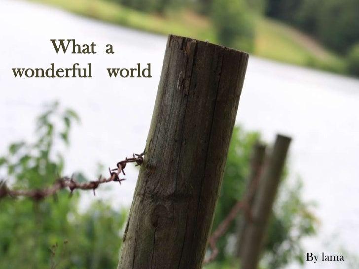 What a wonderful world By Lama Bin Obaid