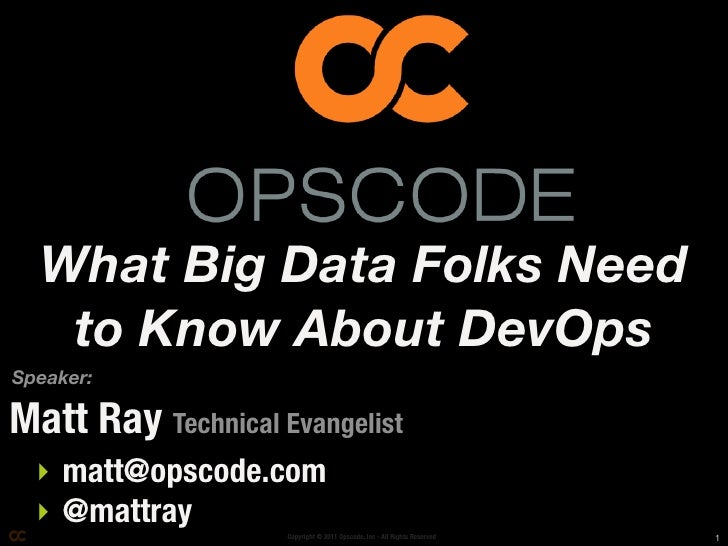 What Big Data Folks Need to Know About DevOps