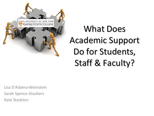 What Does                         Academic Support                          Do for Students,                          Staf...