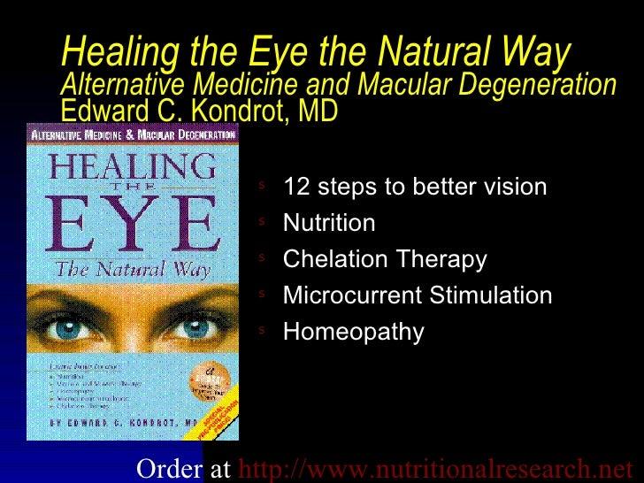 Alternative medicine for macular degeneration