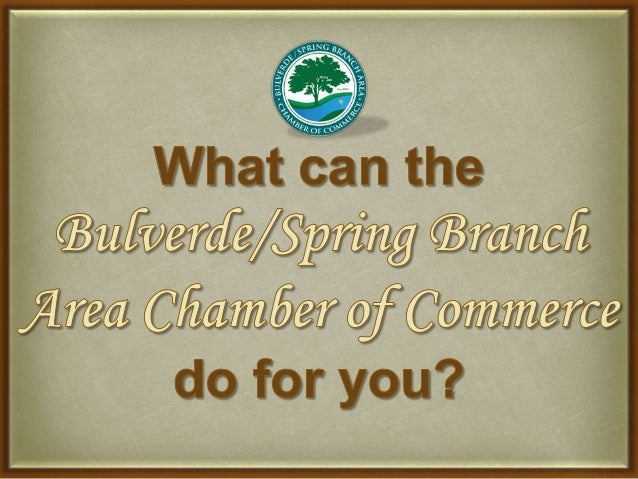 What can the Bulverde/Spring Area Chamber of Commerce do for you?