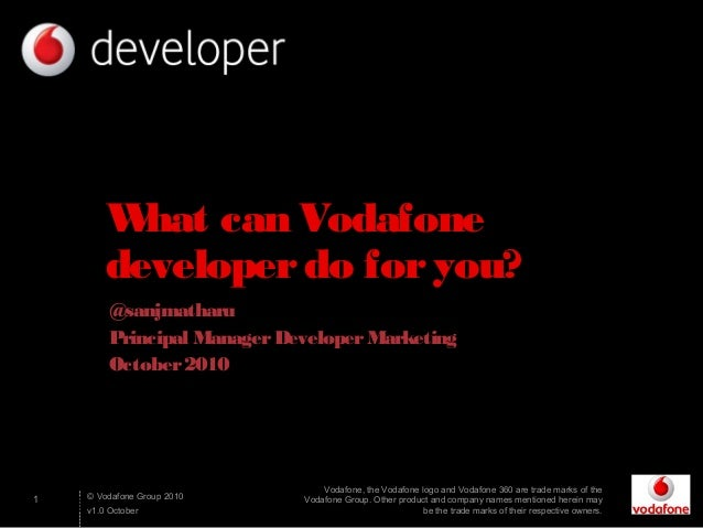 What can vodafone developer do for you(greece devday)
