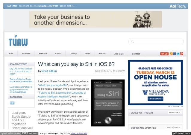AOL | Mail | You m ight also like: Engadget, HuffPost Tech and m ore     Main          Review s         How -To          V...