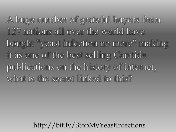 "A huge number of grateful buyers from 127 nations all over the world have bought ""yeast infection no more"" making it as on..."