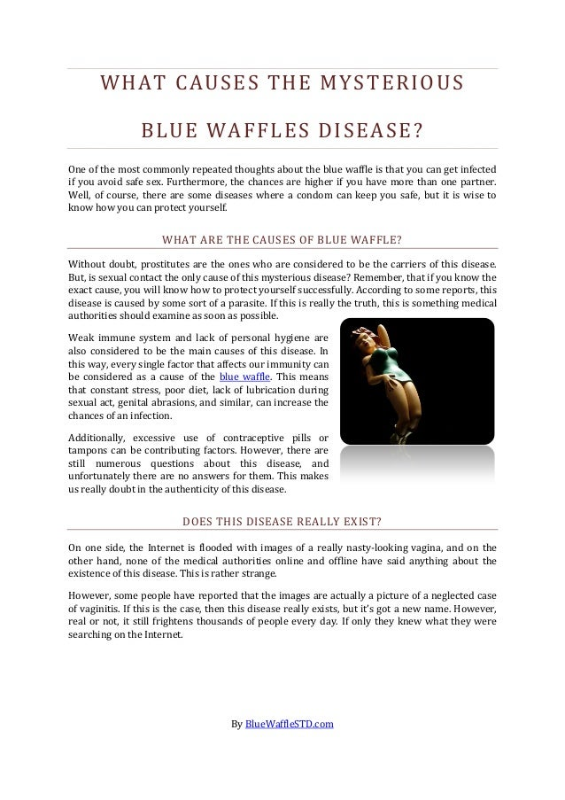 What causes the mysterious blue waffles disease