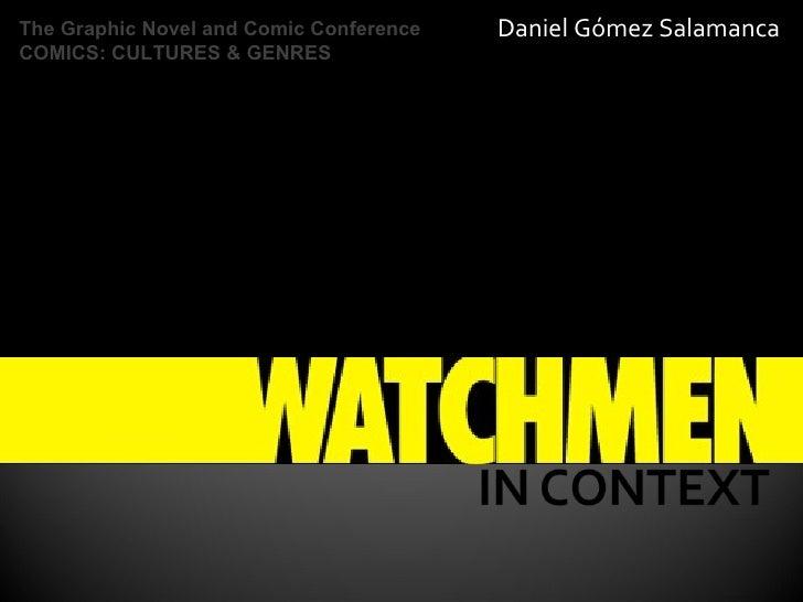 Daniel Gómez Salamanca The Graphic Novel and Comic Conference  COMICS: CULTURES & GENRES