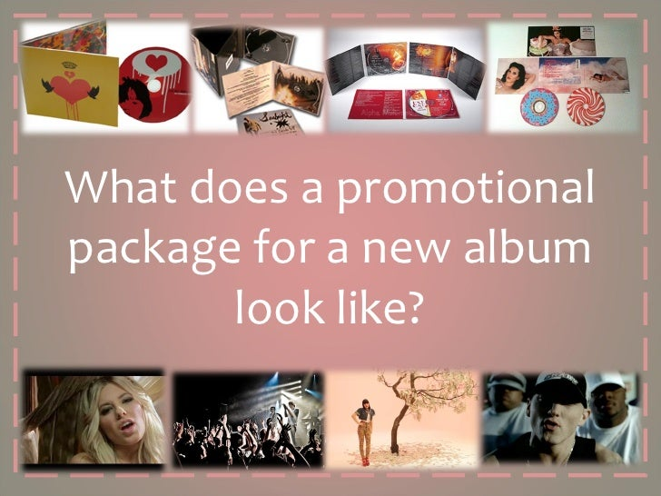 What does a promotional package for a new album look like?