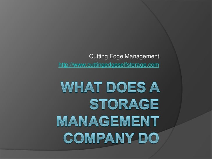 What Does a Storage Management Company Do