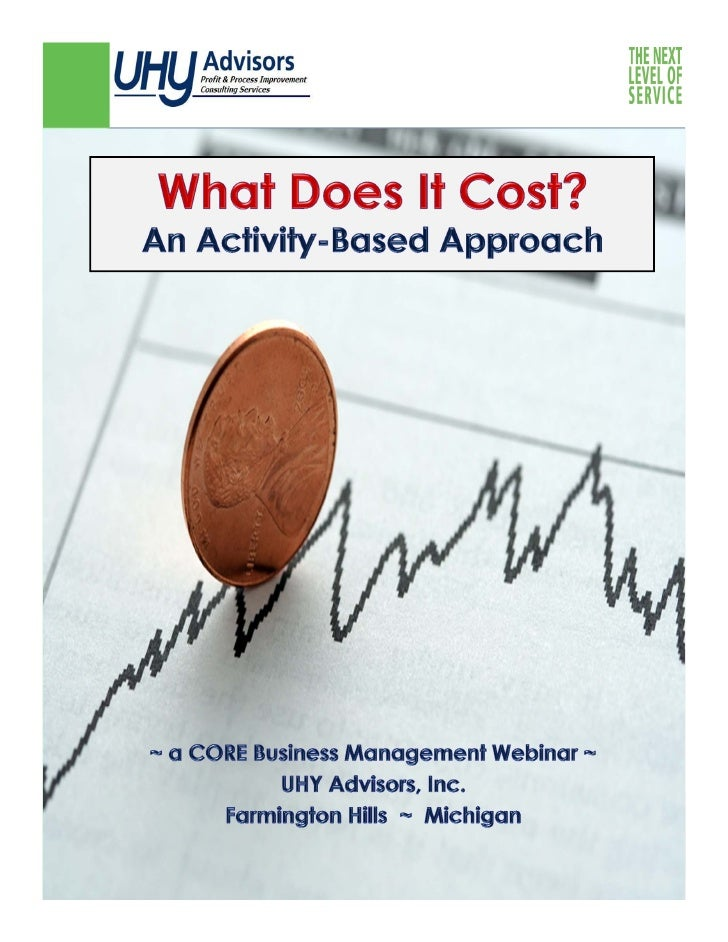 Fundamentals Activity-Based Costing (ABC):   – A method of assigning costs to products or services based on     the resou...