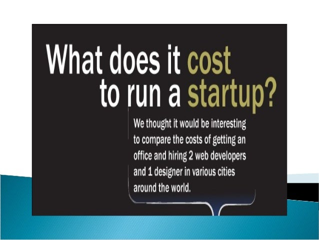 What does it cost to run a startup infographic