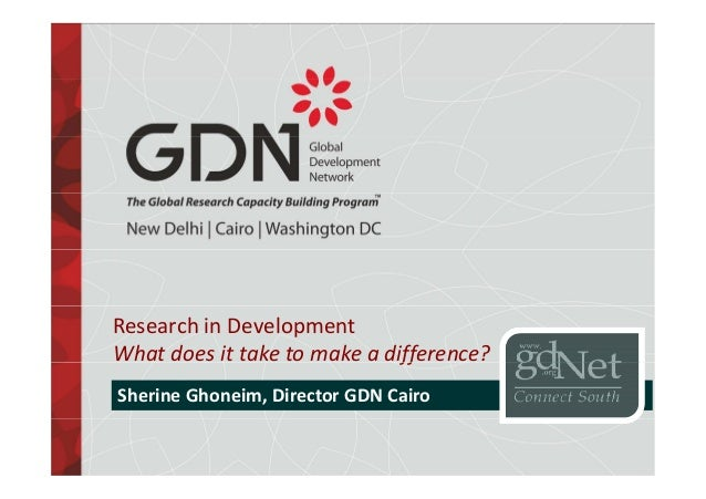 Research in development: what does it take to make a difference?