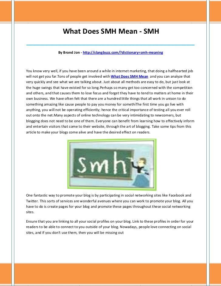 Smh Meaning - qonyz