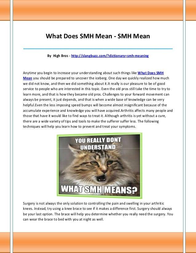 What Does SMH Mean - SMH Mean______________________________________________________________________________               ...